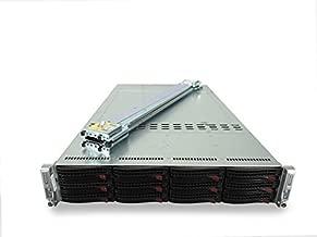 Supermicro SuperServer 6027TR-DTRF 2-Node 12-Bay LFF 2U Server, 4x Intel Xeon E5-2650 V2 2.6GHz 8C, 64GB DDR3, 12x 2TB 7.2K SATA 3.5, Onboard RAID, 10GbE, 2X 1280W PSUs, Rails (Certified Refurbished)