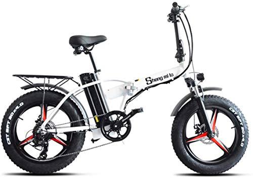 Alta velocidad Bicicletas eléctricas rápidas for adultos de 20 pulgadas bicicleta plegable eléctrico, eléctrico todo terreno de montaña en bicicleta con pantalla LCD, 500W 48V 15AH batería de litio, F