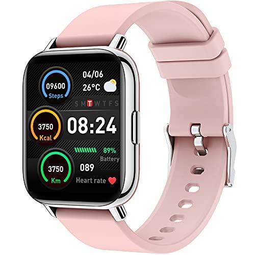 Smartwatch Donna, 1,69 Pollici Orologio Fitness Tracker, Smart Watch con Cardiofrequenzimetro da Polso, Sportivo Activity Tracker Contapassi Cronometro, Impermeabile Monitor del Sonno per Android iOS