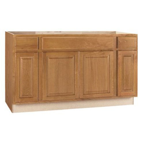 Rsi Home Products Sales W X 34.5' H X 24' D 60' Medium Oak Finish Assembled Sink Base Cabinet, 60' 60'