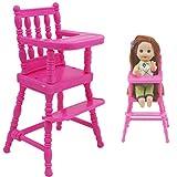 Hotaden 1 Set Rose Assemblée Chaise Haute pour Enfants Meubles dîner Jouets Dollhouse Accessoires pour Soeur 01:12 Jouet