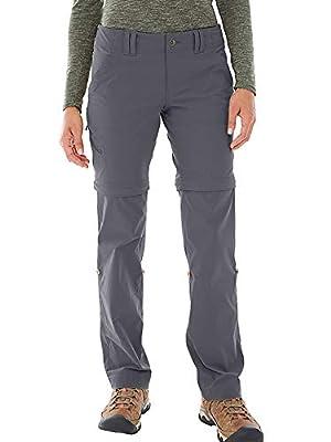 Women's Hiking Pants Quick Dry Convertible Stretch Lightweight Outdoor UPF 40 Fishing Safari Travel Camping Capri Pants (192 Grey (Summer), 28)
