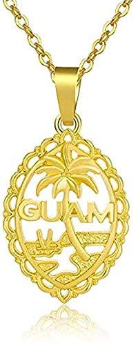 グアムフラグペンダントネックレスの男性と女性のネックレスゴールドチェーンはグアムフラグジュエリーギフトネックレス