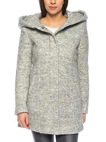 VERO MODA Damen VMVERODONA LS AW Jacket NOOS KI Jacke, Grau (Light Grey Melange Light Grey Melange), 36 (Herstellergröße: S)