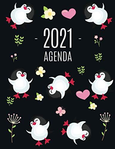 Pingüino Agenda 2021: Planificador Annual | Enero a Diciembre 2021 | Ideal Para la Escuela, el Estudio y la Oficina