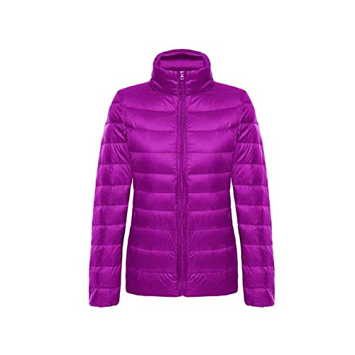 YRFHQB Winter vrouwen Ultralicht donsjack donsjack vrouwen lange mouwen warme dunne korte mantel parka vrouwelijke herfst outwear