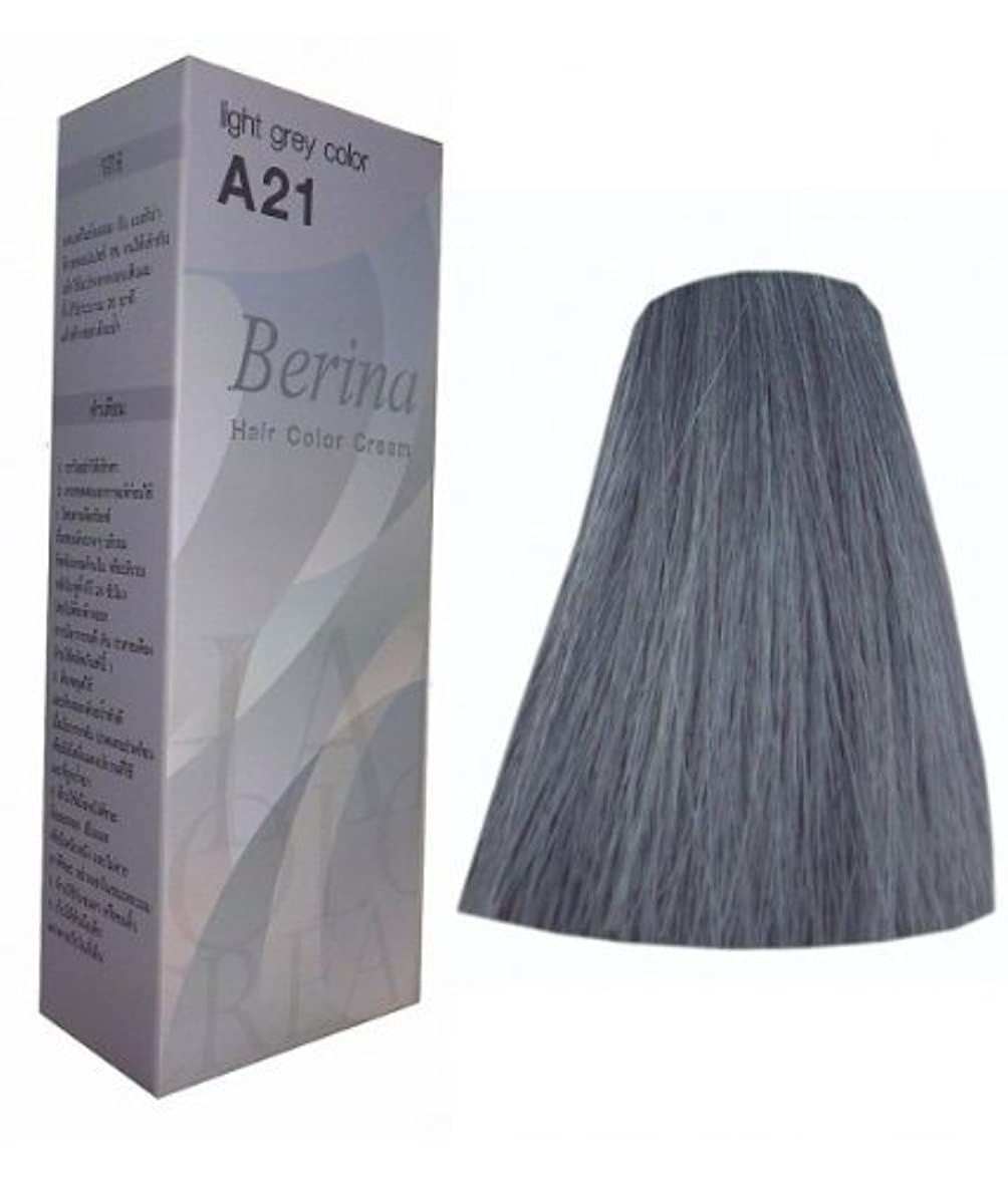 ルアー符号高いHair Colour Permanent Hair Cream Dye Light Ash Grey by Berina [並行輸入品]