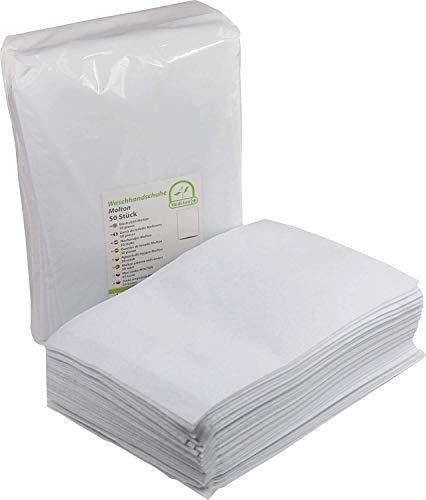 1000 Stück Einmal Waschhandschuhe Waschlappen Babypflege Einmalwaschlappen molton