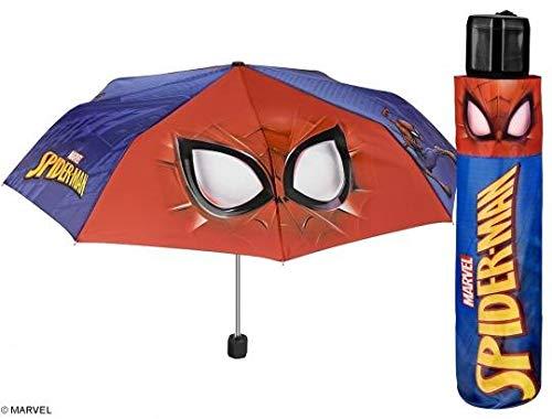 PERLETTI 75369Boy Mini 50/8Man 3Sect Stampato Spiderman Ombrello Antivento