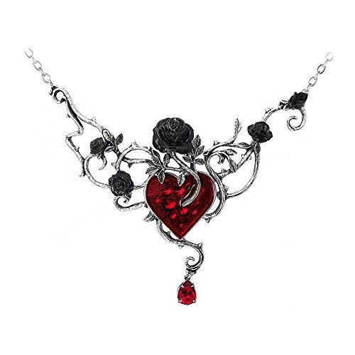Alchemy Gothic Bett Von Blut Rosen Halskette