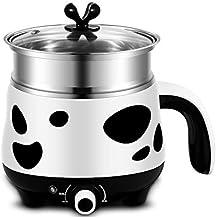 DYXYH Cuisinière électrique Mini noir blanc 1-2 personne pot électrique poêle étudiant dortoir de nouilles hot pot cuisini...