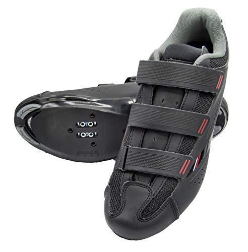 Tommaso Strada 100 Dual Cleat Compatible Road Touring Cycling Spin Shoe - 41 Black