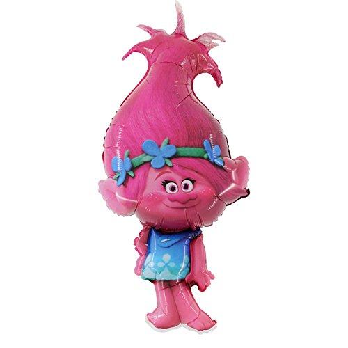 """1 x Trolls Poppy Globo de láminas Forma 43""""x 21"""" 109 cm x 53 cm"""