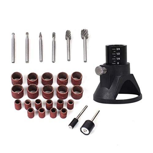 Zinniaya Juego de herramientas eléctricas rotativas de 150 piezas Mini taladro amoladora Kit de pulido Localizador de banda de lijado Accesorios Piezas Trabajo de madera Reparación