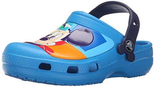 Crocs Creative Crocs Mickey Colorblock Clog Kids, Unisex - Kinder Clogs, Blau (Ocean/Nautical Navy), 32/33 EU
