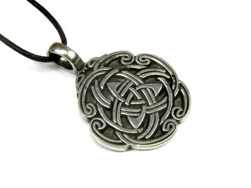 Creative Ventures Jewelry Celtic Weave Pendant on Corded Necklace, Celtic Collection