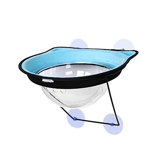 GXHGRASS, hangmat voor katten, met kijkvenster van glas, verbonden met het raam, robuust en duurzaam met 4 sterke zuignappen, voor huisdieren tot 10 kg