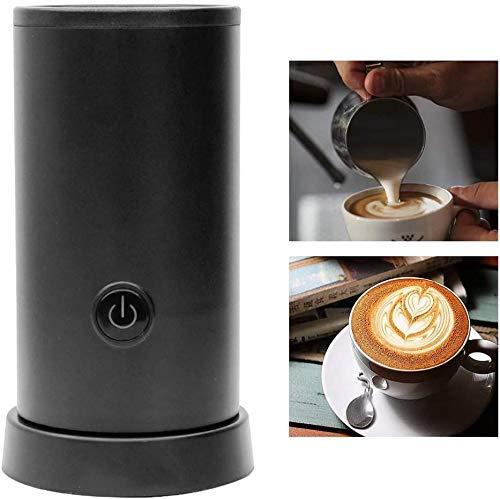 Elektrische Handheld Mixer, dubbelwandige Melkschuimers Liquid Heater Melk Whisk for Cappuccino Latte Macchiato zhihao (Color : Black)