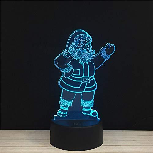 Mylamp Merry Santa Claus LED 3D NightLight Lampada da notte in acrilico Light Xmas Touch e Lampade a distanza Luci Regali per bambini GiC