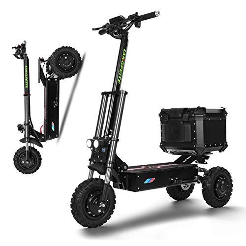 XYDDC Elektro-Scooter 3000W High Power DREI Runden Faltbare Erwachsene/Ältere Freizeit Smart-Scooter mit 65-80KM Long Range Wiederaufladbare Kick-Scooters, Höchstgeschwindigkeit 80 km/h