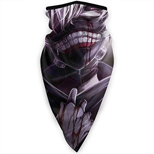 Nasuza Ken-Tokyo Ghoul - Braga para el cuello, resistente al viento, para la boca, para la cabeza, bufanda, pasamontañas