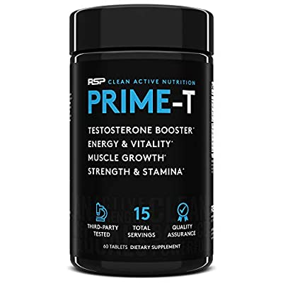RSP Testosterone Booster for Men, Prime T Natural Test Booster Pills, Increase Free Testosterone, Lean Muscle Growth, Strength, Stamina & Healthy Sleep