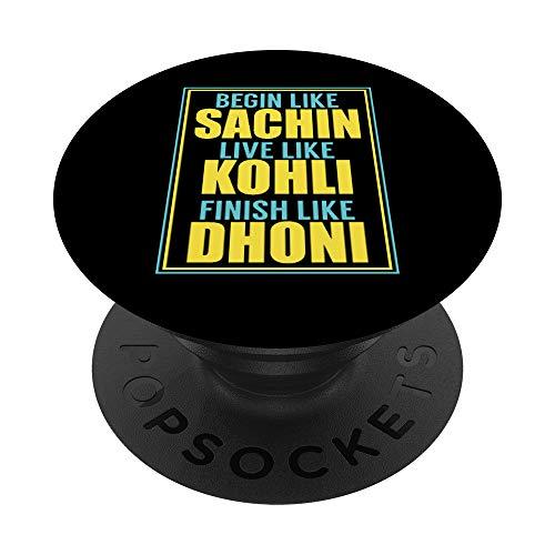 Indisches Cricket-Team-Unterstützer-Trikot PopSockets PopGrip: Ausziehbarer Sockel und Griff für Handys/Tablets mit Tauschbarem Top