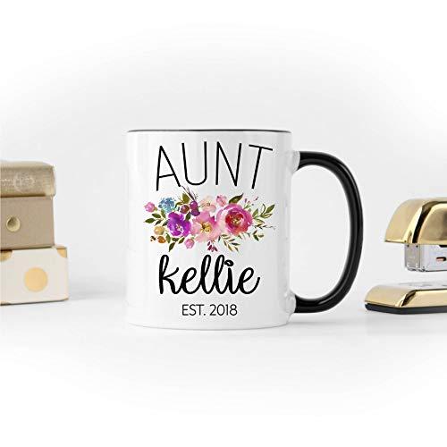 Thee mok, tante koffie mok gepersonaliseerd mok voor tante baby aankondiging mok tante mok cadeau voor tante zwangerschap onthullen nieuwe tante cadeau voor zuster slechts een mok