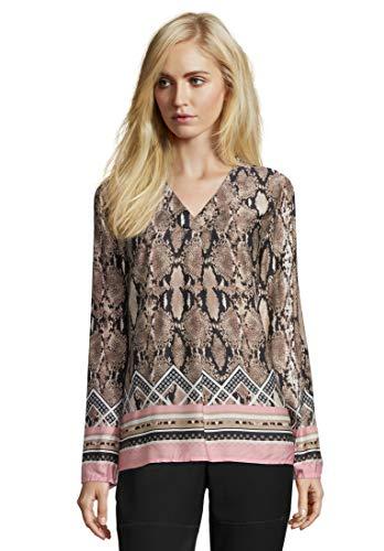 Betty Barclay Damen 6046/8164 Bluse, Mehrfarbig (Camel/Rosé 7845), (Herstellergröße: 46)