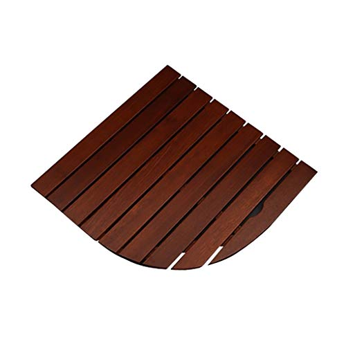 Sale!! Shower Mats Solid Wood Sector Non Slip Wooden Bathroom Shower/Bath Duck Board (Size : 70x70cm...