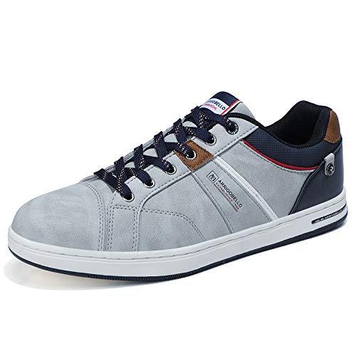 ARRIGO BELLO Zapatos Hombre Vestir Casual Deportivas Zapatillas Sneakers Caminar Correr Deportivas Gimnasio Moda cómodo Viajar Talla 41-46 (Gris, Numeric_43)