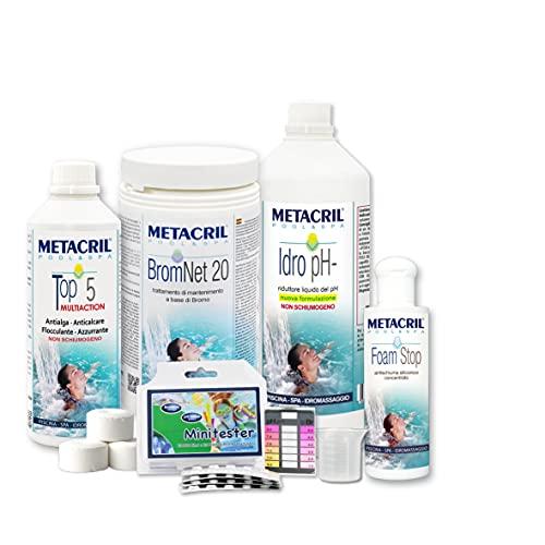 Metacril Easy Kit BROMO para hidromasajes y piscinas. Tratamiento completo a base...