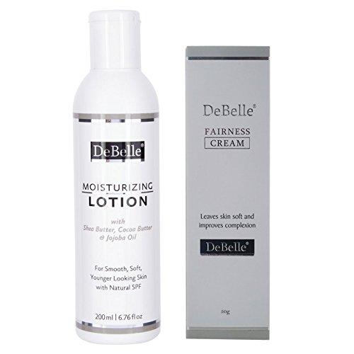 DeBelle Moisturizing Lotion & Fairness Cream, Off-White (Combo Of 2)