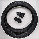 Black1 2x20 Zoll MTB Reifen + AV Schläuche Decke Mantel Fahrrad Anhänger 20x1.90 | ETRTO 50-406 | mit 1mm Pannenschutz Autoventil Schrader