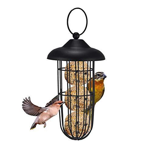 HaavPoois Bird Feeder,Hanging Holder Bird Feeder Peanut Nut Feeder,Sunflower Feeder, for Wild Birds Garden Outdoors/Metal