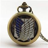 Flying Freedom Angel Vintage antike runde Zifferblatt Quarz Taschenuhr Halskette Anhänger Uhr für Herren Damen besten Geschenke - Gold