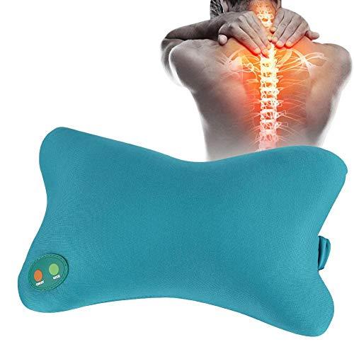 Almohada de masaje, Almohada suave eléctrica Vibración Cuello Volver Inicio Coche Amasamiento...