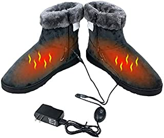 ObboMed® MF-2600L USB 5V, 10W Carbon Fiber Heated Warming Booties - Heating Slippers, Infrared Shoe, Warm Pad, Foot Heater, Cold feet Solution. (5V, 10W, L: #45.5 fits Foot up to 45.5)