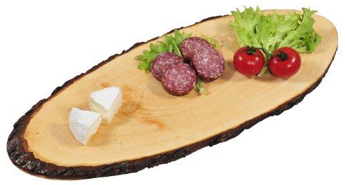 Kesper - Tabla de servir (madera de aliso), color marrón, talla 40 - 49 cm longitud x 17 cm, 1.5 cm espesor