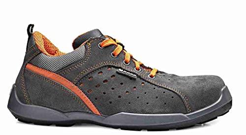 Base Protection, CLIMB Calzado de Seguridad para Hombres y Mujeres, Gris y Naranja, Talla 45 ✅