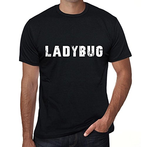 One in the City Hombre Camiseta Personalizada Regalo Original con Mensaje Divertido Ladybug S Negro