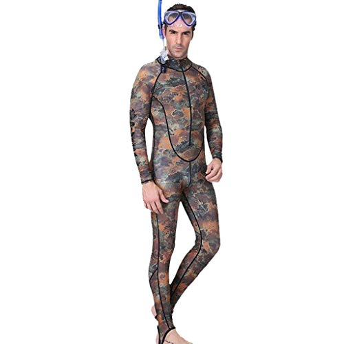 Buy Bargain Excursion Sports Men Camouflage Full Body Rash Guard, UPF50+ UV Protection One Piece Wetsuit, Zipper Skin Bathing Suit for Swimming/Scuba Diving/Snorkeling/Surfing