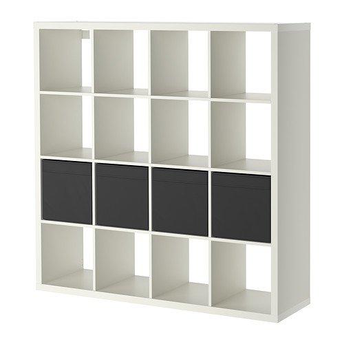 IKEA Expedit Drona–Libreria con 4inserti, bianco–147x 147cm