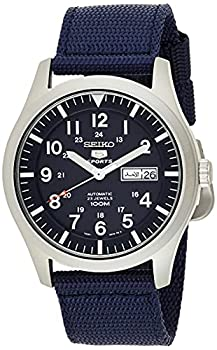SEIKO Men s Analogue Automatic Watch with Textile Strap SNZG11K1