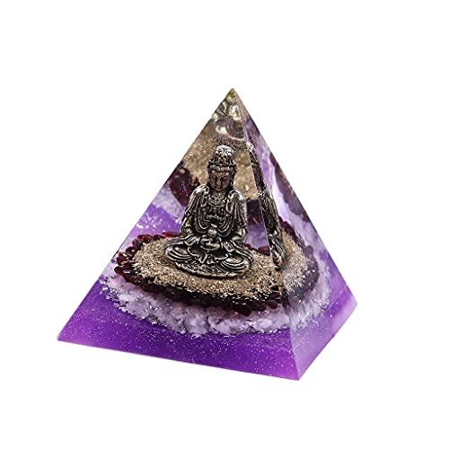 Hellery Pirámide de Orgón Adorno de Buda Meditación en el hogar Generador de energía Joyería de Reiki de exploración Hecha a Mano