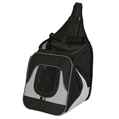 Trixie 28941 Fronttasche Savina, 30 × 33 × 26 cm, schwarz/grau