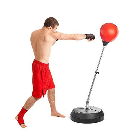 MGIZLJJ Sacos Pesados Independiente Saco de Boxeo Reflex Velocidad Sacos, Altura Ajustable for Adultos y Niños Boxing Punching Ball