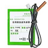 NewIncorrupt Sonda del sensor de temperatura del aire acondicionado Accesorios del cabezal sensor de temperatura 5k 10k 15k 20k 30k 50k