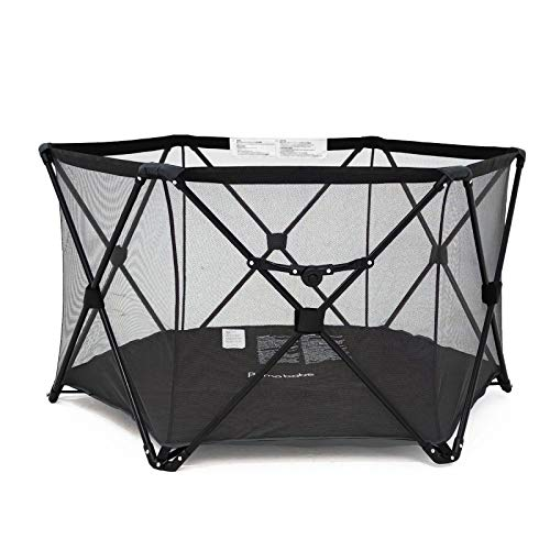 Pamo Babe Portable Playard BabyPlay Pen with Carrying Case(Black)