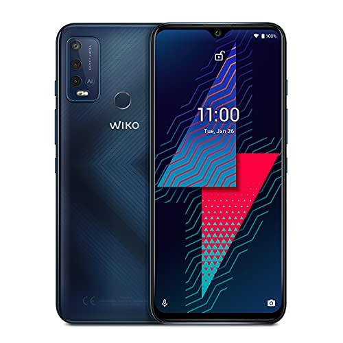 """Wiko Power U30 64 Go Smartphone débloqué 4G (Ecran 6.82"""" HD+ - 64 Go Stockage - 4 Go RAM - Triple Camera - Batterie 6000 mAh - Charge Rapide) Carbone Blue"""